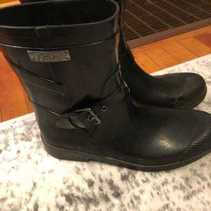 COACH black rain all weather boots 7